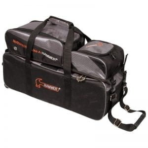 Hammer Triple Tote 3 Ball Roller Bowling Bag With Pouch